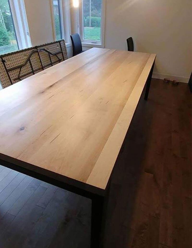 Table en érable